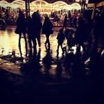 雨のディズニーランド