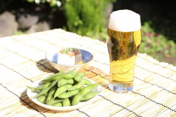 ビールとえだまめ